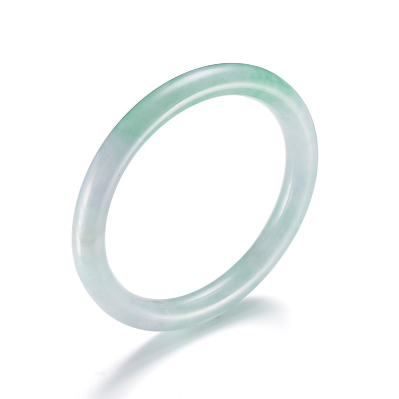 Pale & Apple Green Jadeite Bangle