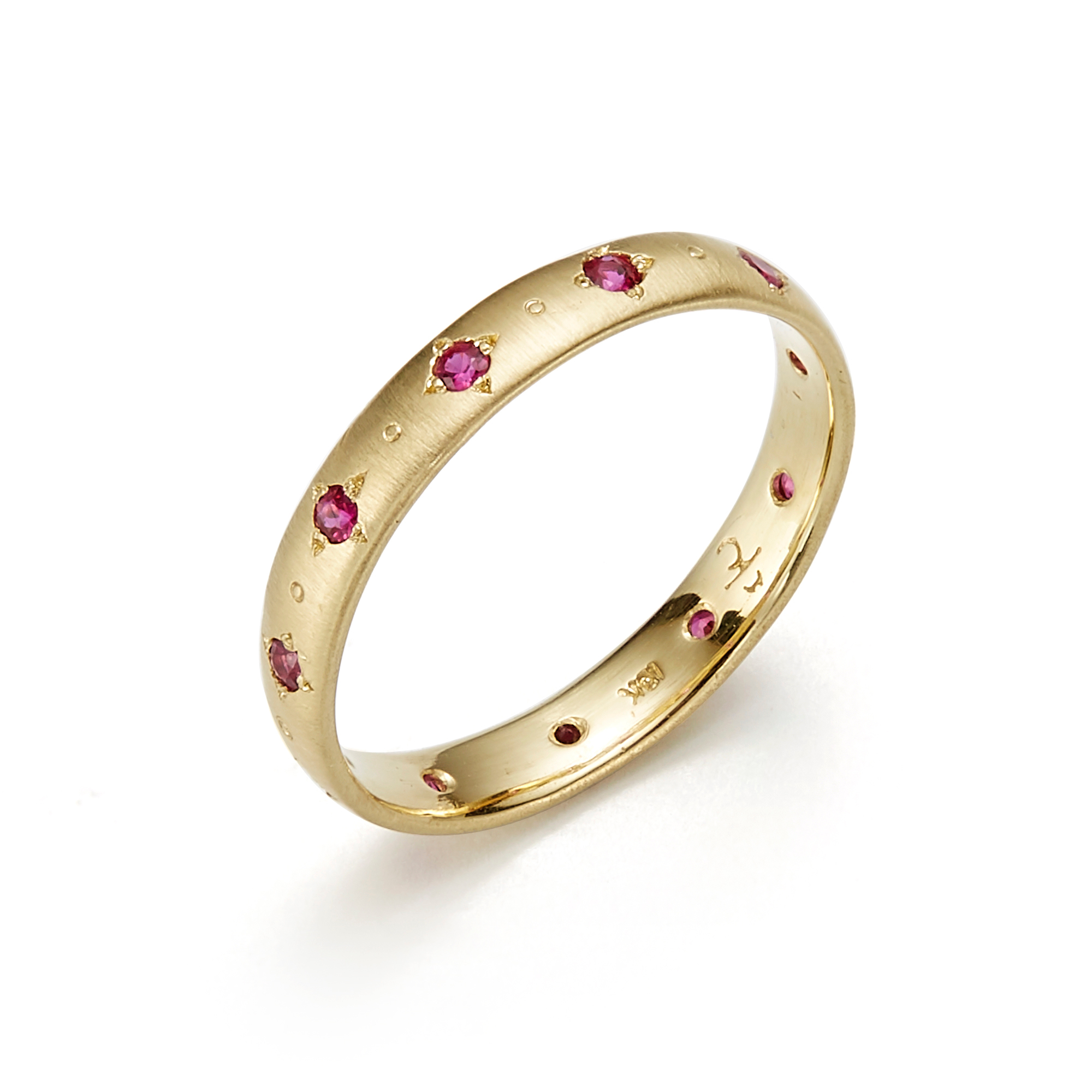 Adel Chefridi Ruby Stepping Stone Eternity Band Ring