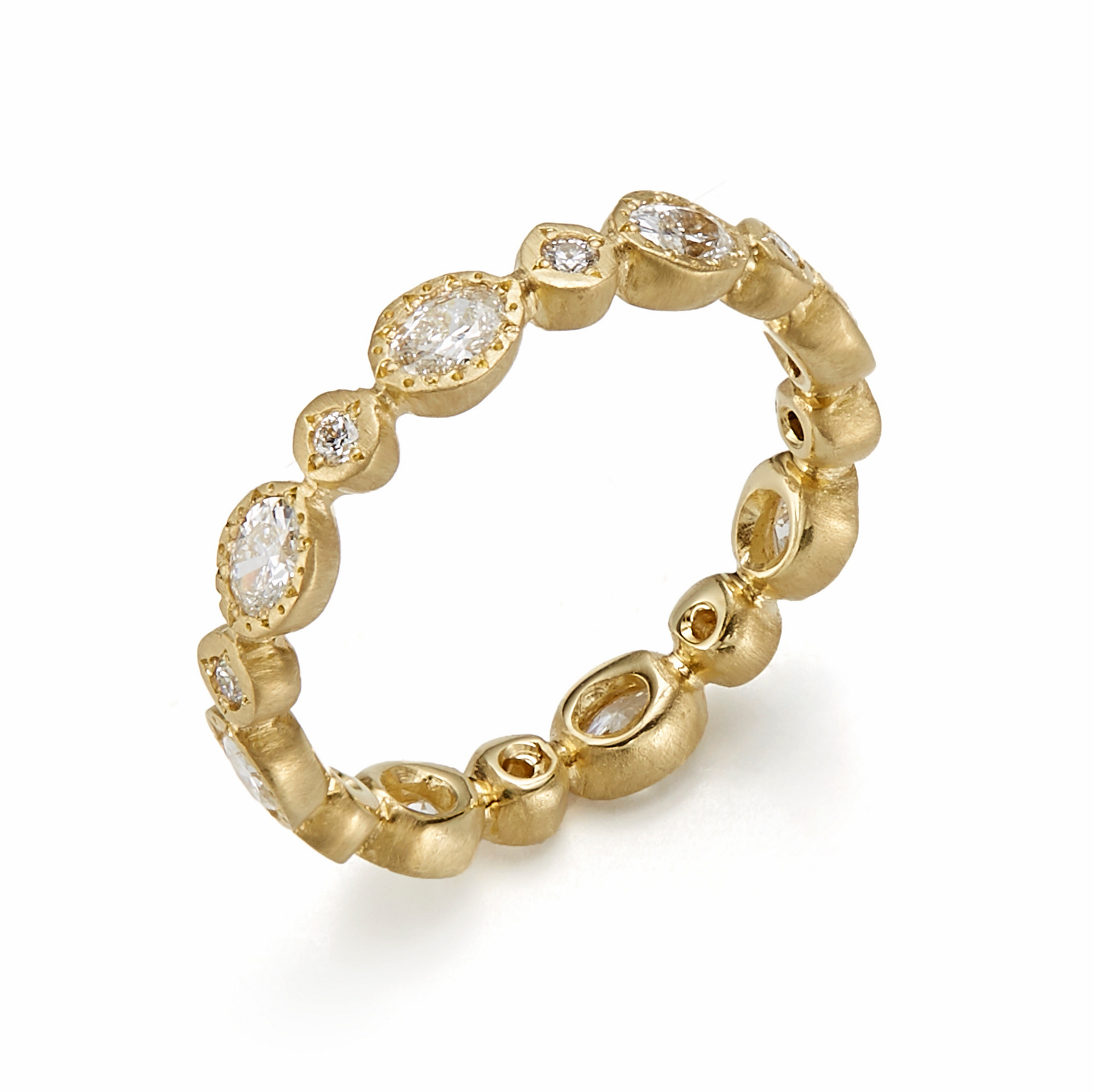 Adel Chefridi Diamond Oval & Round Eternity Band Ring