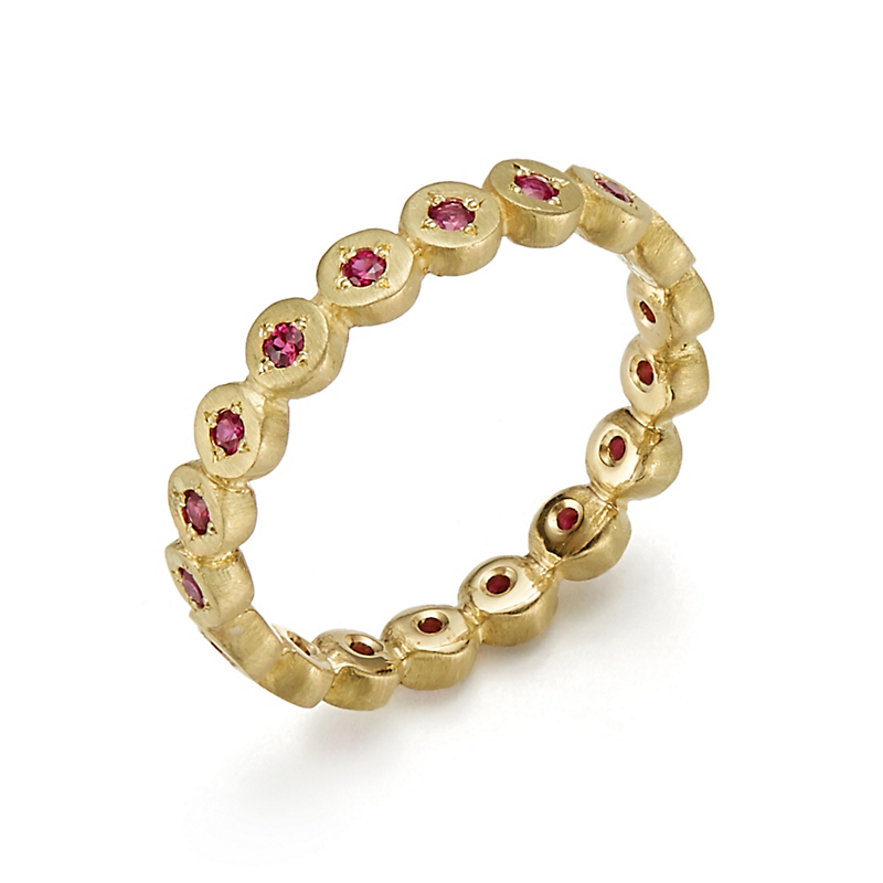 Adel Chefridi Ruby New River Rocks Eternity Band Ring