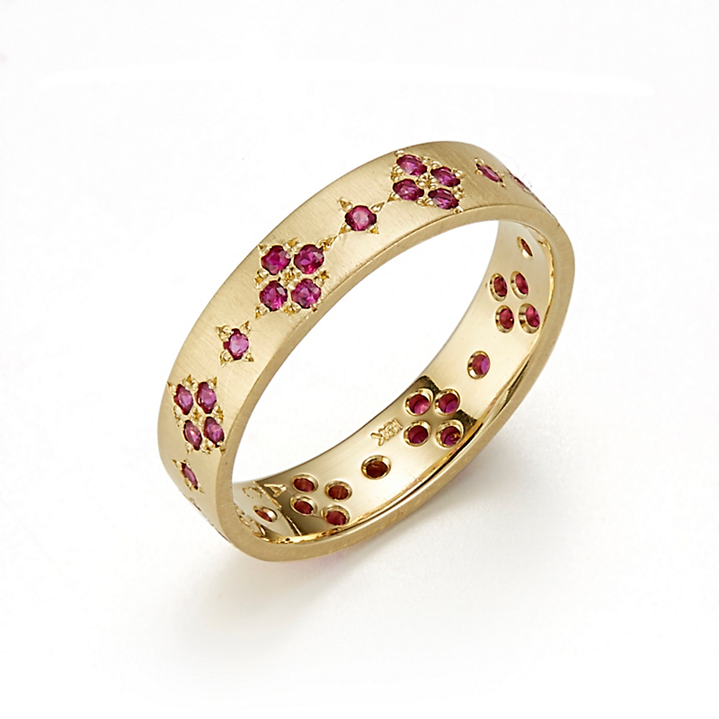 Adel Chefridi Ruby Memories Eternity Band Ring