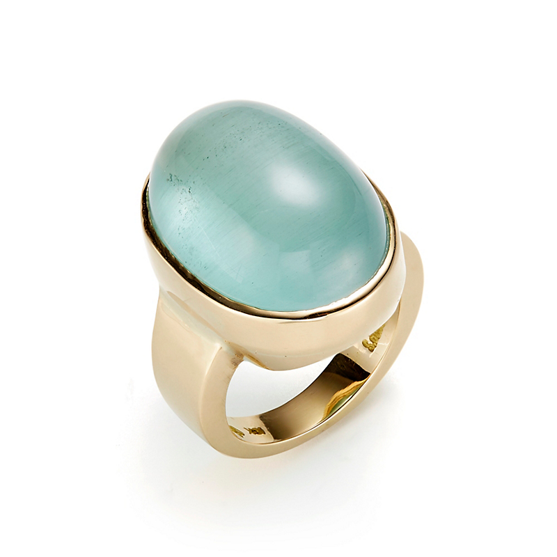Gump's Cat's Eye Aquamarine Ring