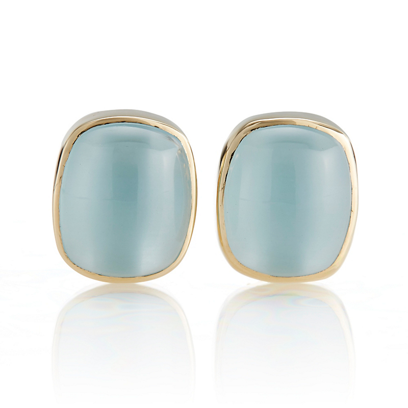 Gump's Rectangular Aquamarine Earrings