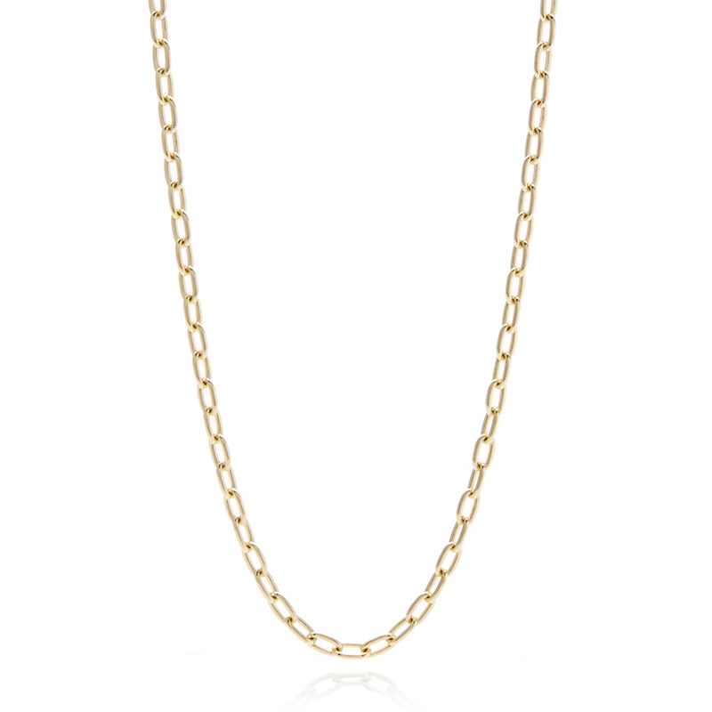 Elongated Oval Cable Chain