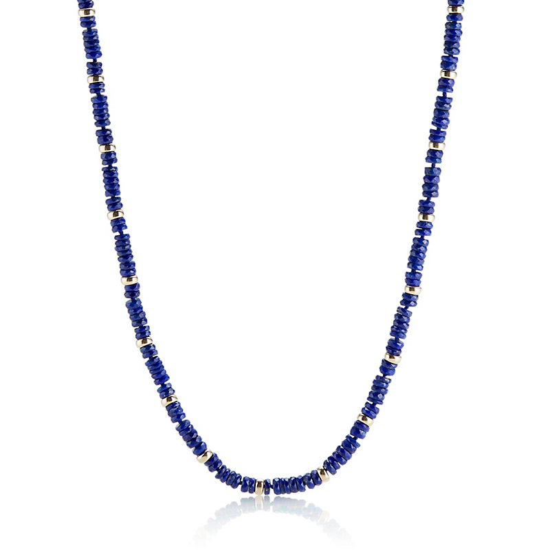 Gump's Faceted Lapis & Gold Necklace