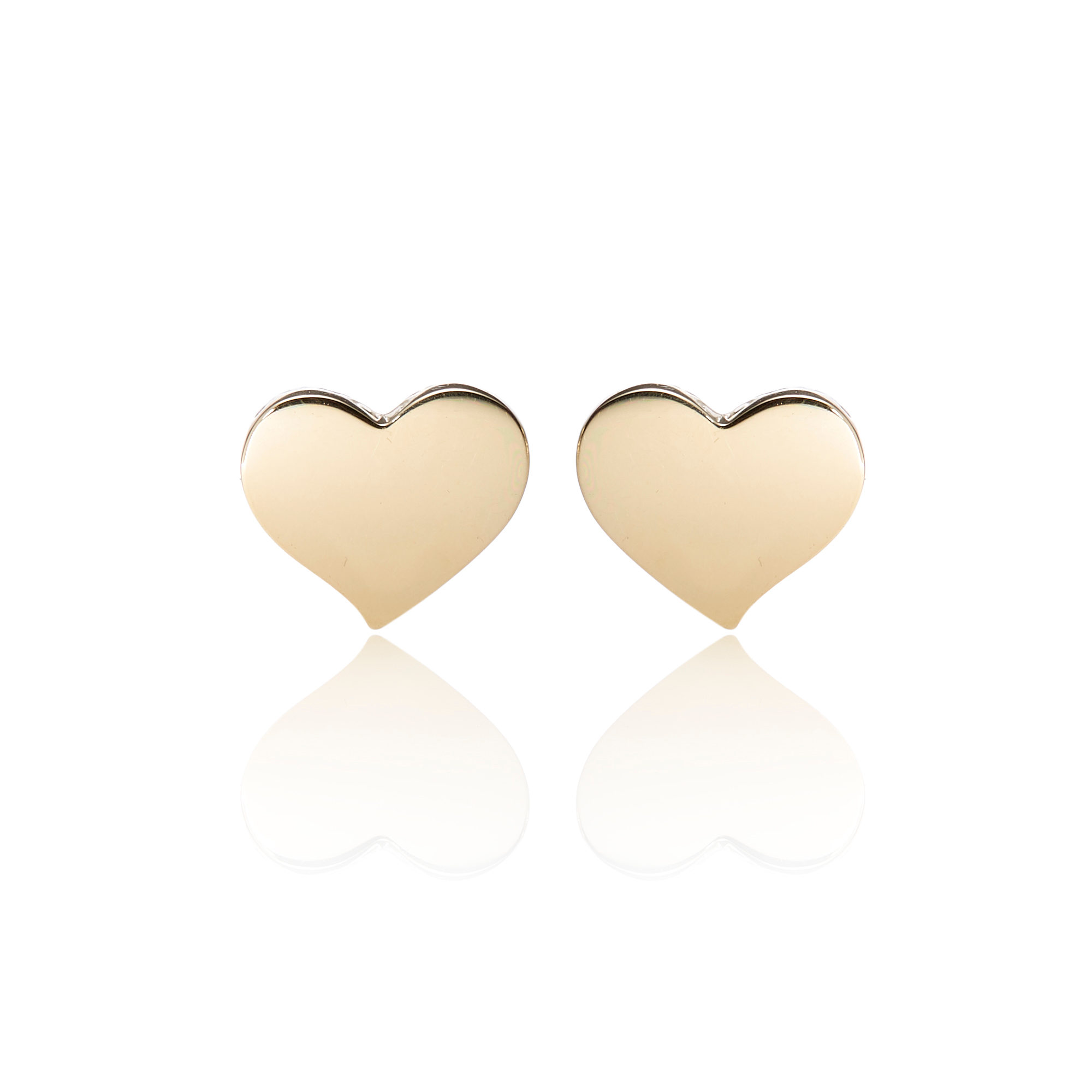 Gump's Gold Offset Heart Earrings