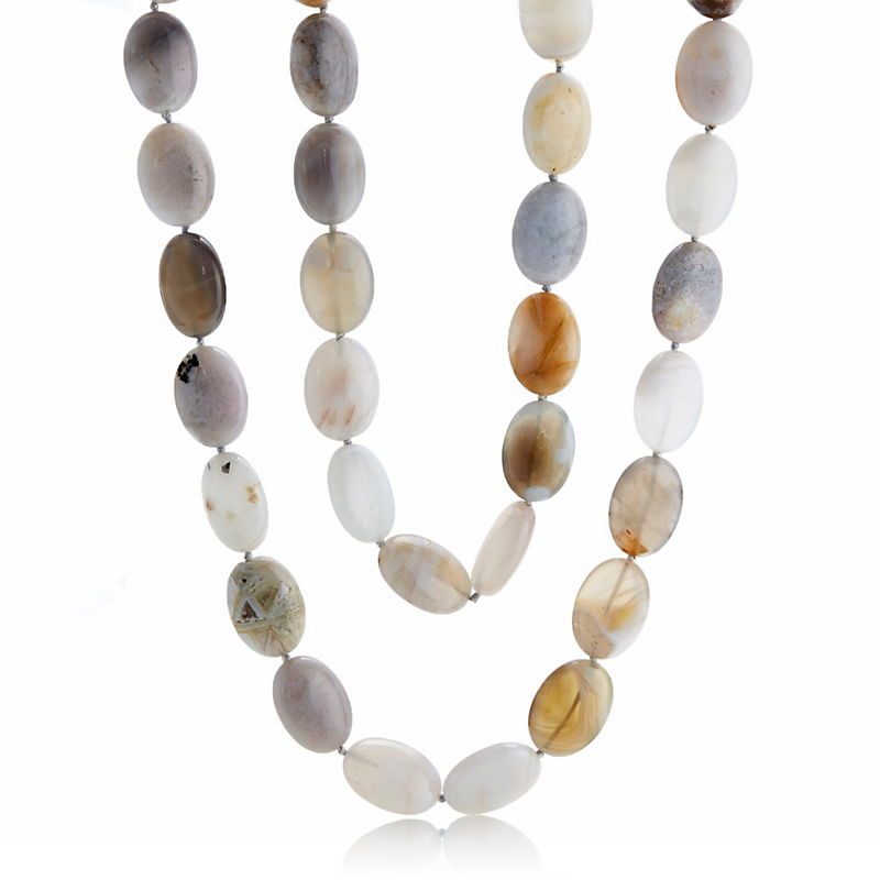 Gump's Large Agate Rope Necklace