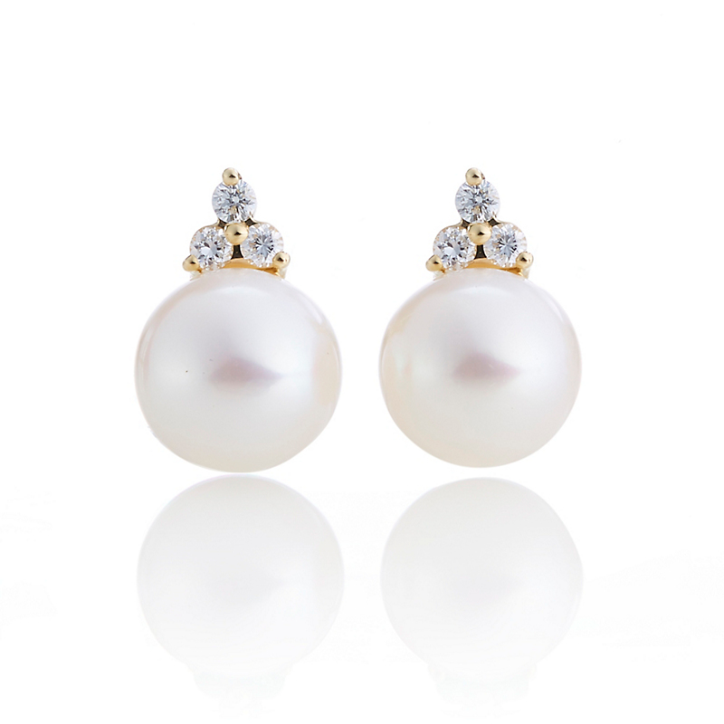 Gump's Pearl & Diamond Trio Earrings