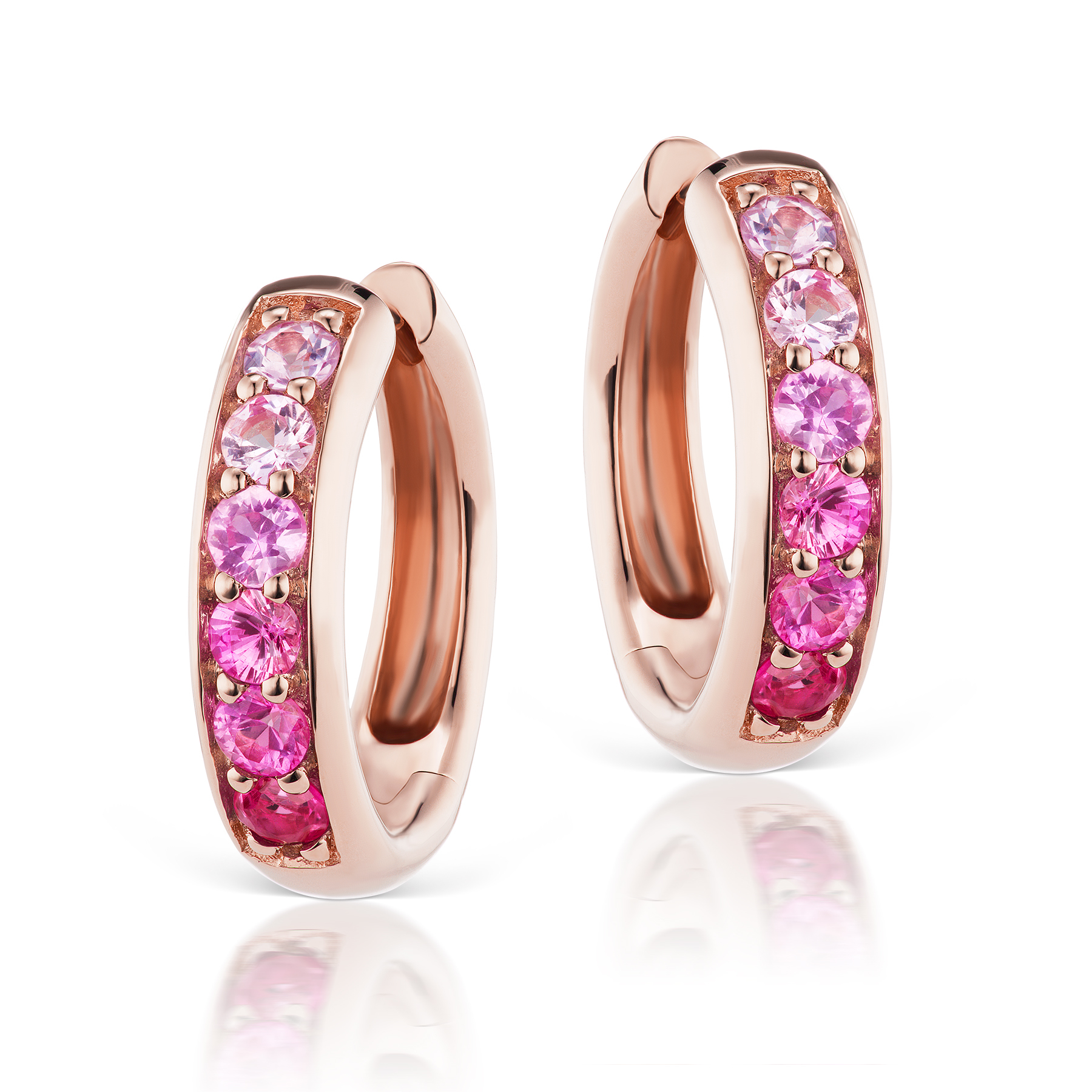 Jane Taylor Multi Pink Sapphire Huggie Earrings