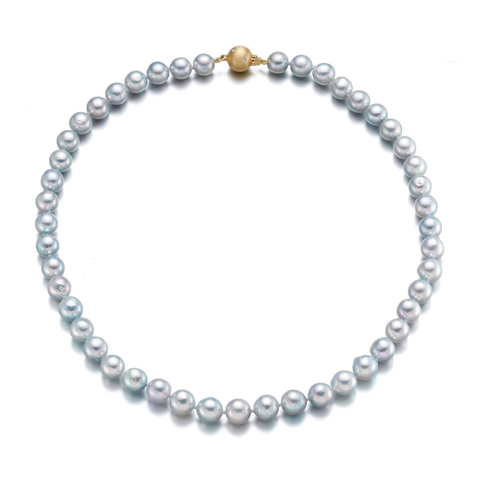 Gump's Blue Akoya Pearl Necklaces
