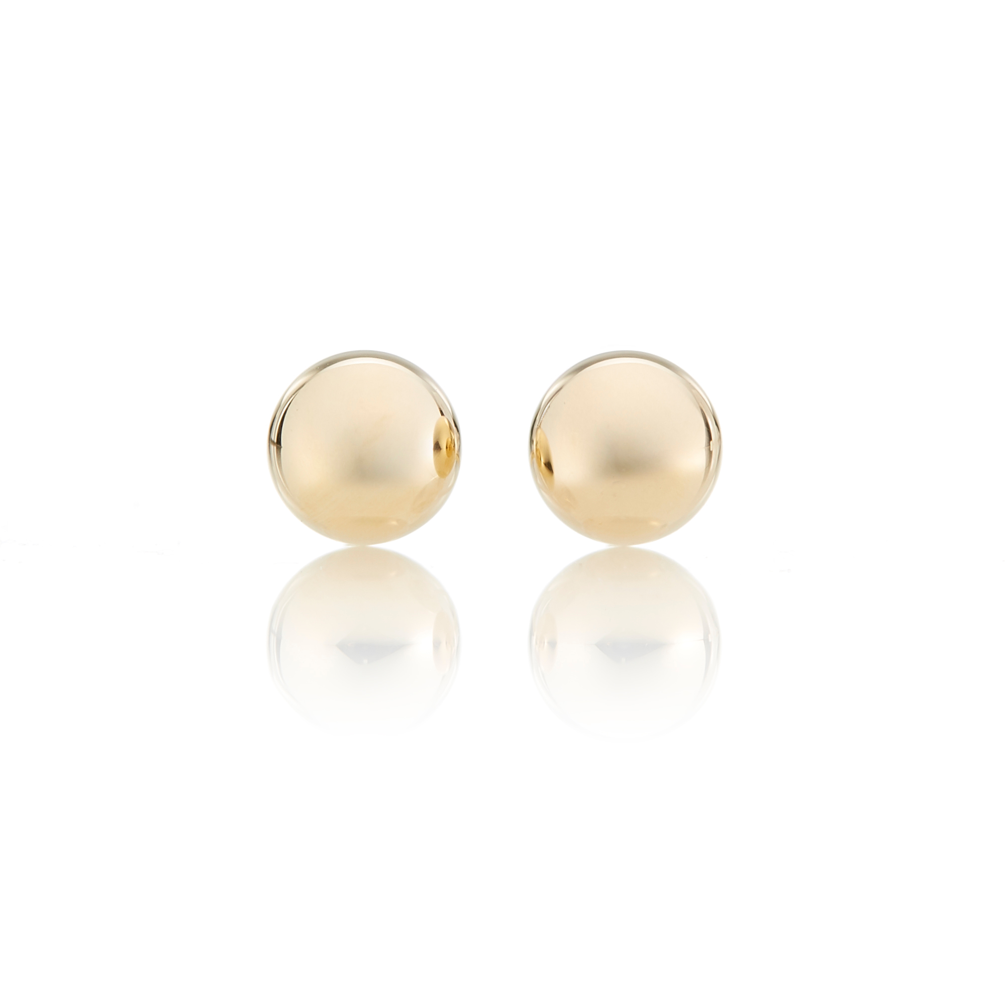 Polished Petite Ball Earrings