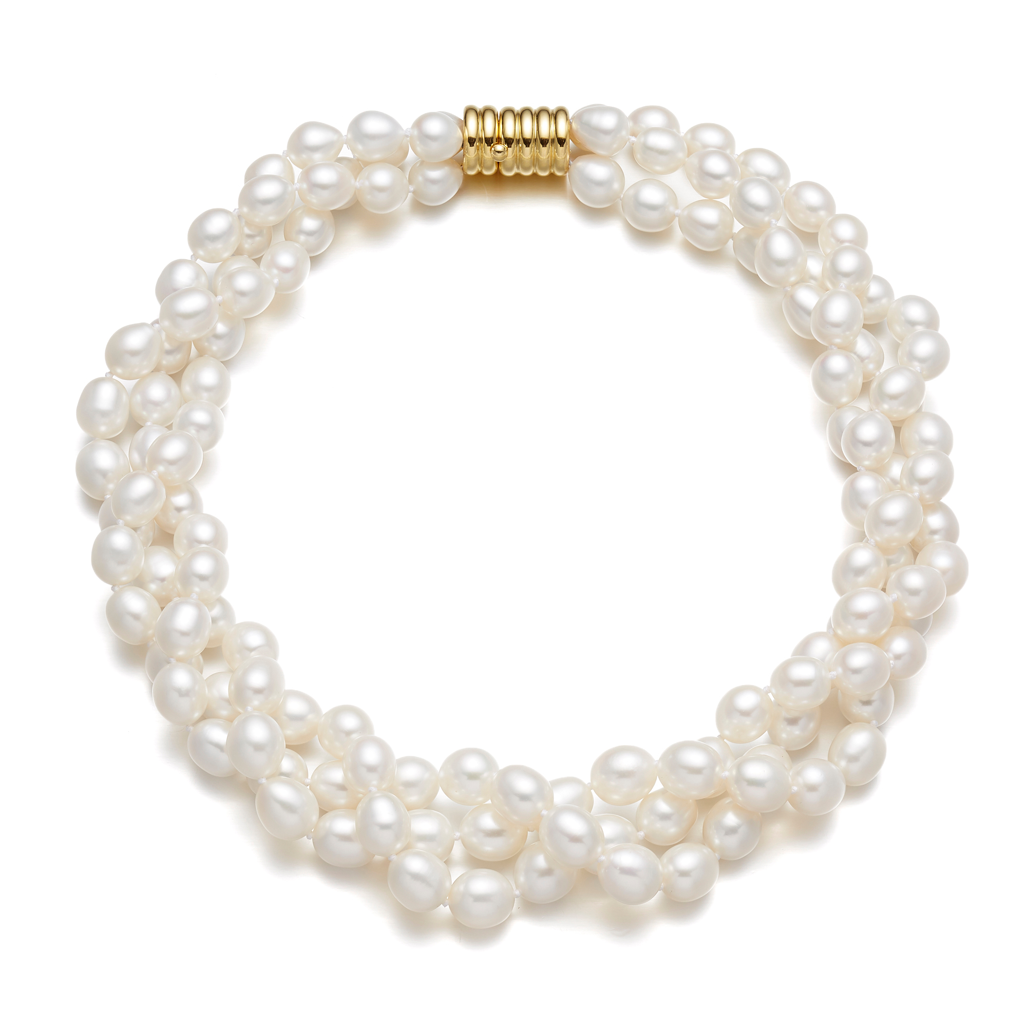 Gump's Freshwater Oval Pearl Twist With Barrel Clasp
