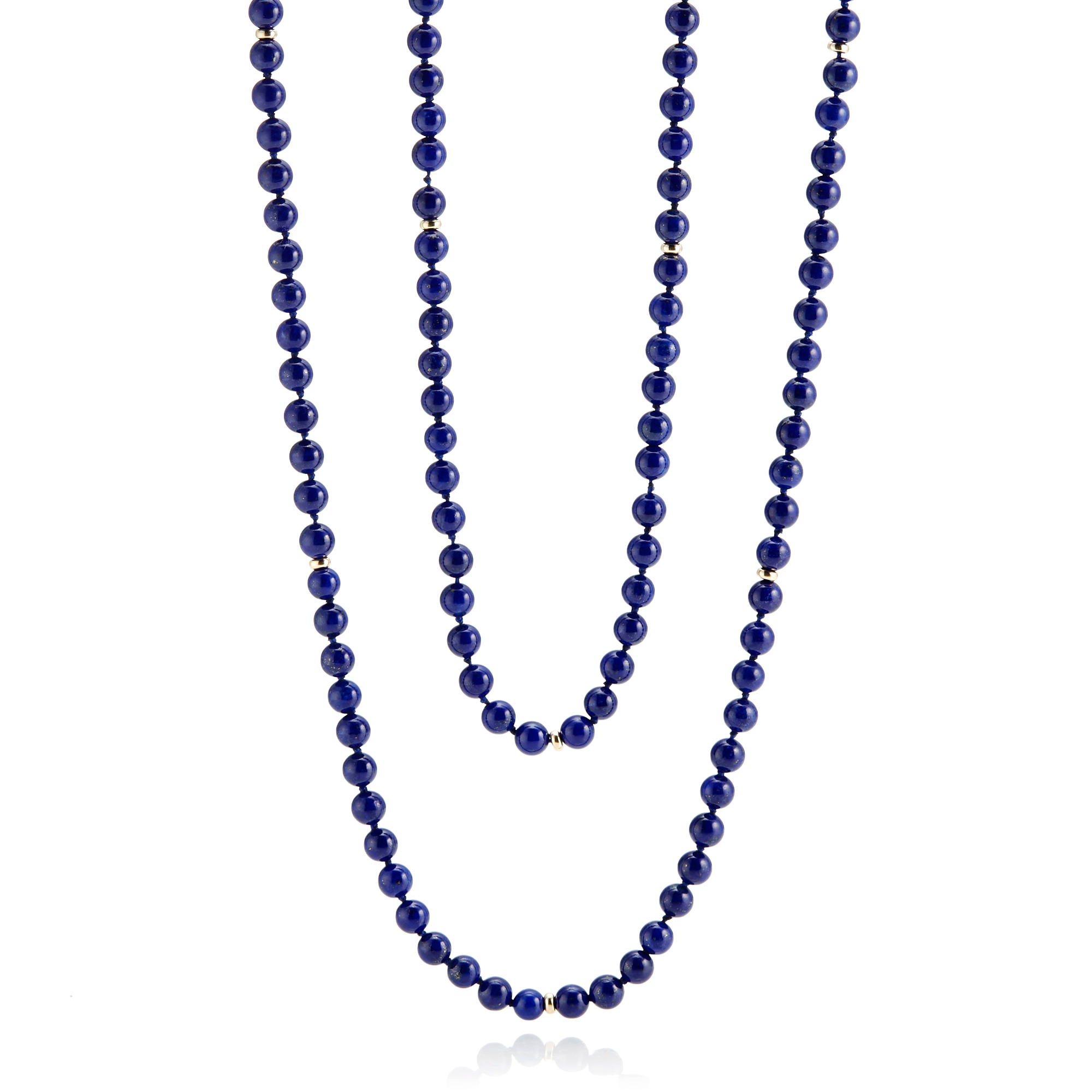 Gump's Lapis & Gold Rope Necklace