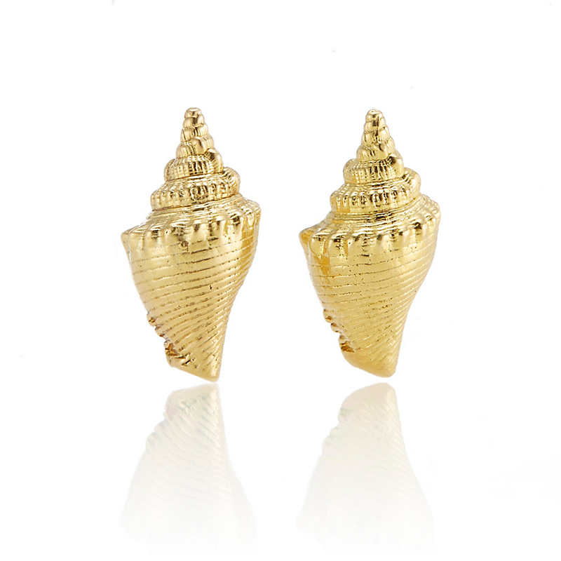 Gold Triton Shell Earrings