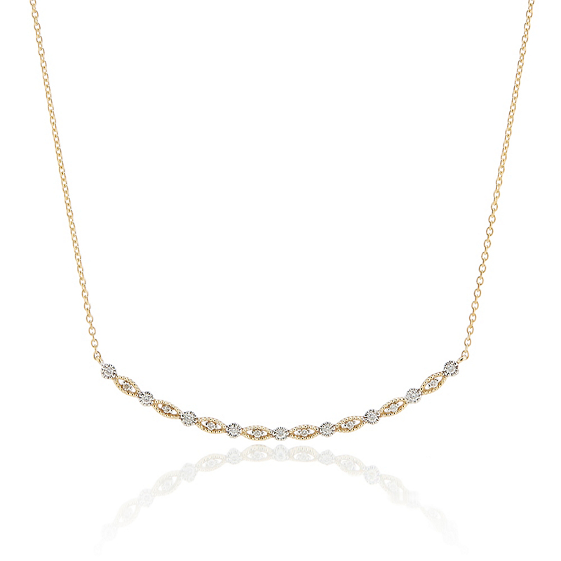Diamond Curved Line Necklace