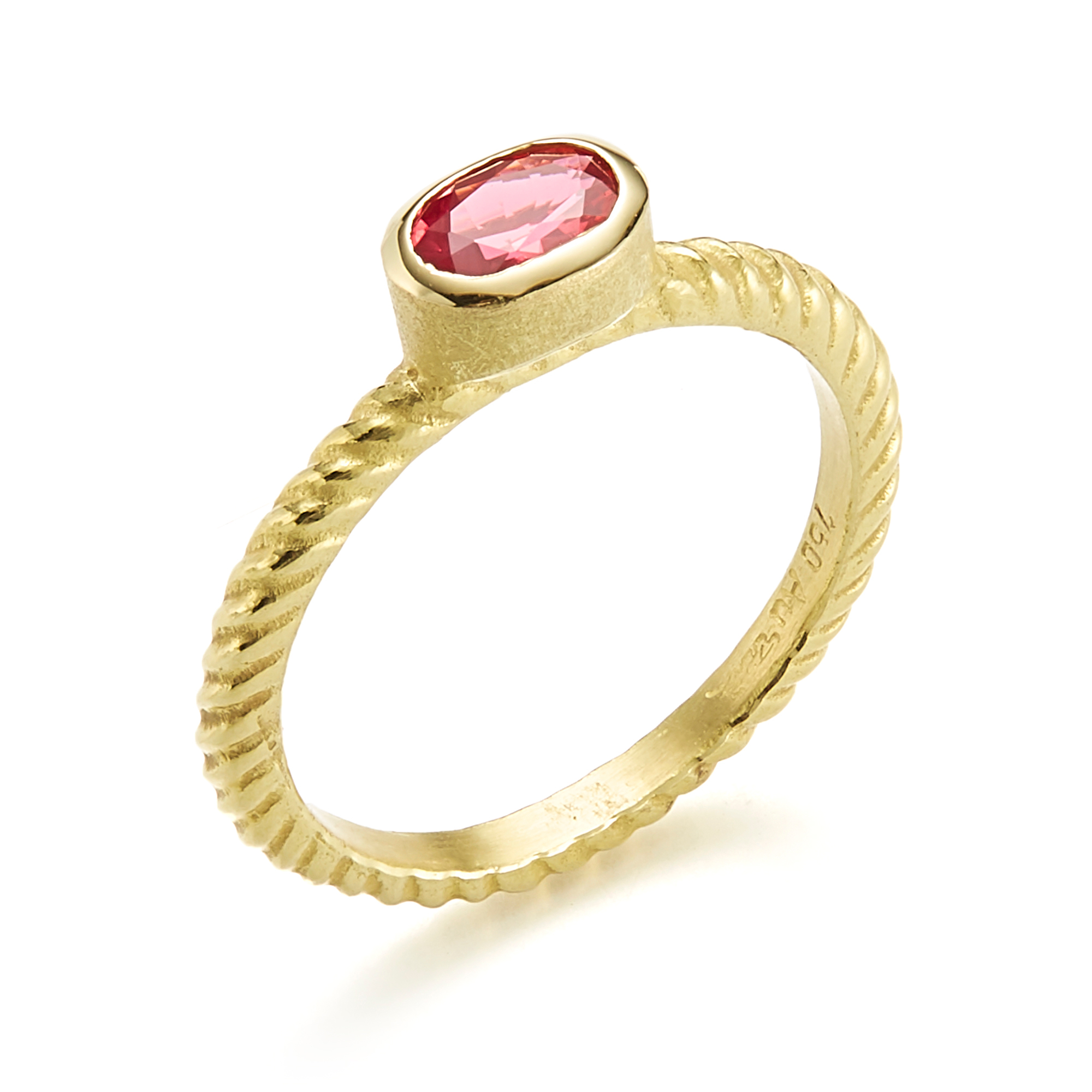 Barbara Heinrich Pink Spinel Oval Braided Stacking Ring