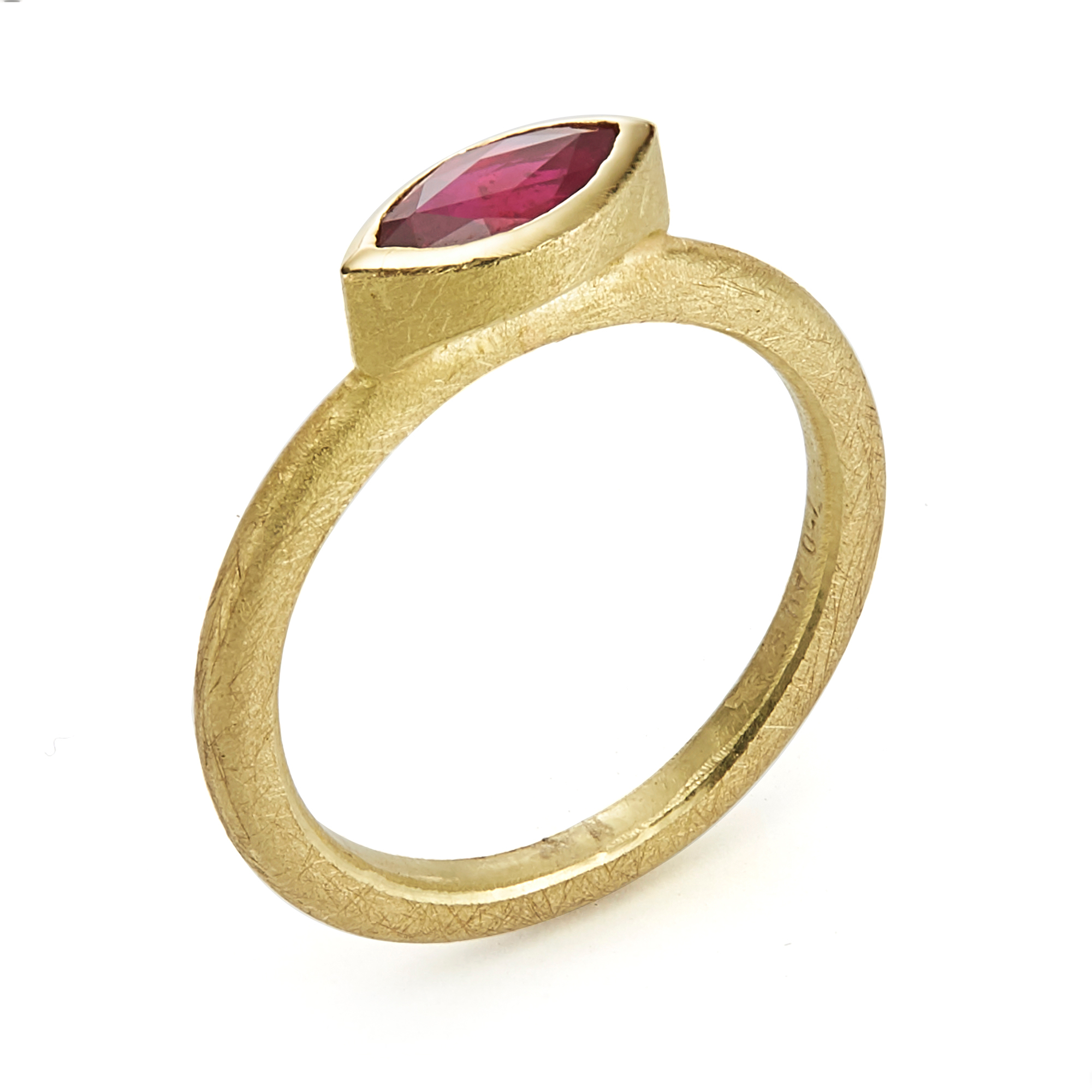 Barbara Heinrich Ruby Marquise Stacking Ring