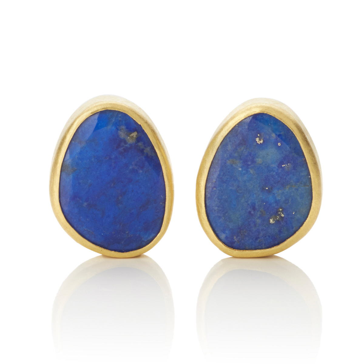 Petra Class Medium Faceted Lapis Earrings