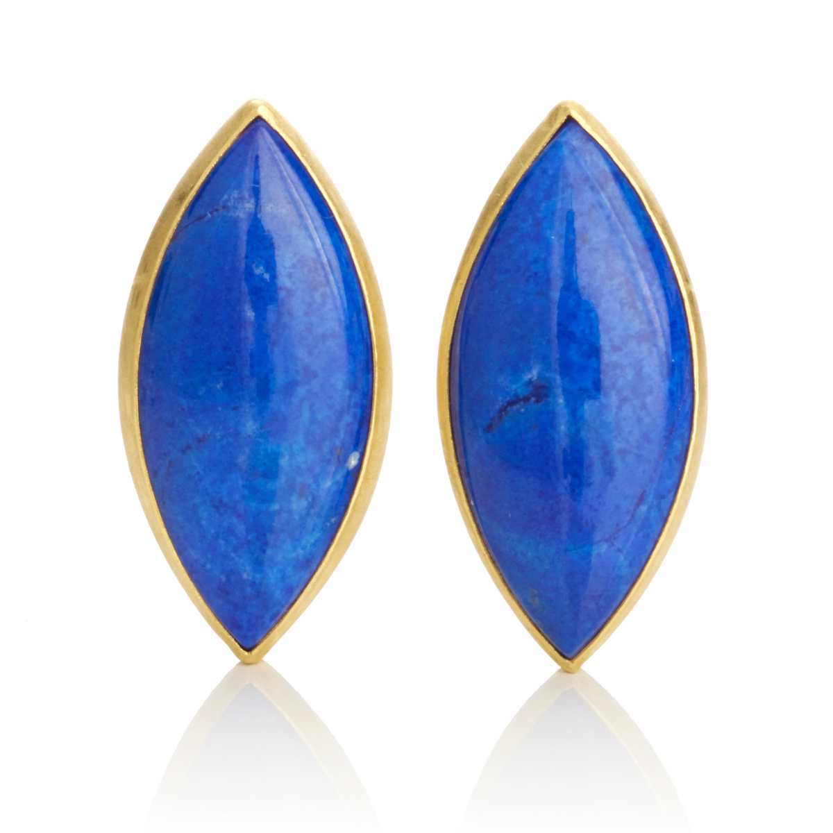 Petra Class Large Lapis Marquise Earrings