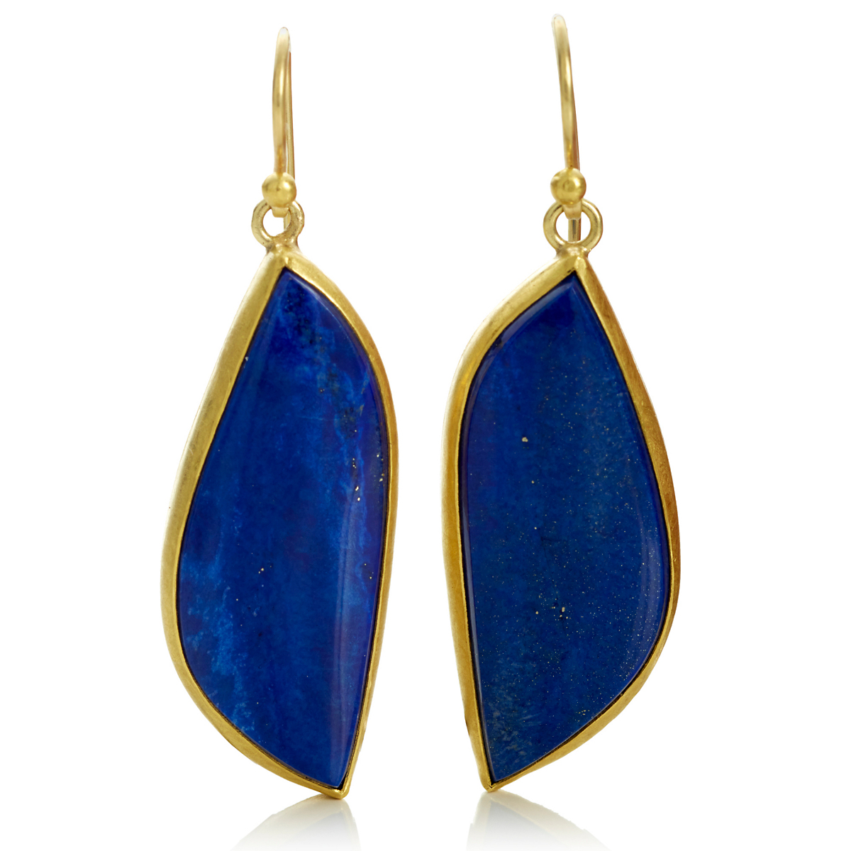 Petra Class Lapis Wave Drop Earrings