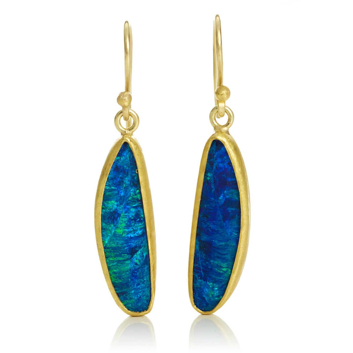 Petra Class Opal Doublet Slender Drop Earrings