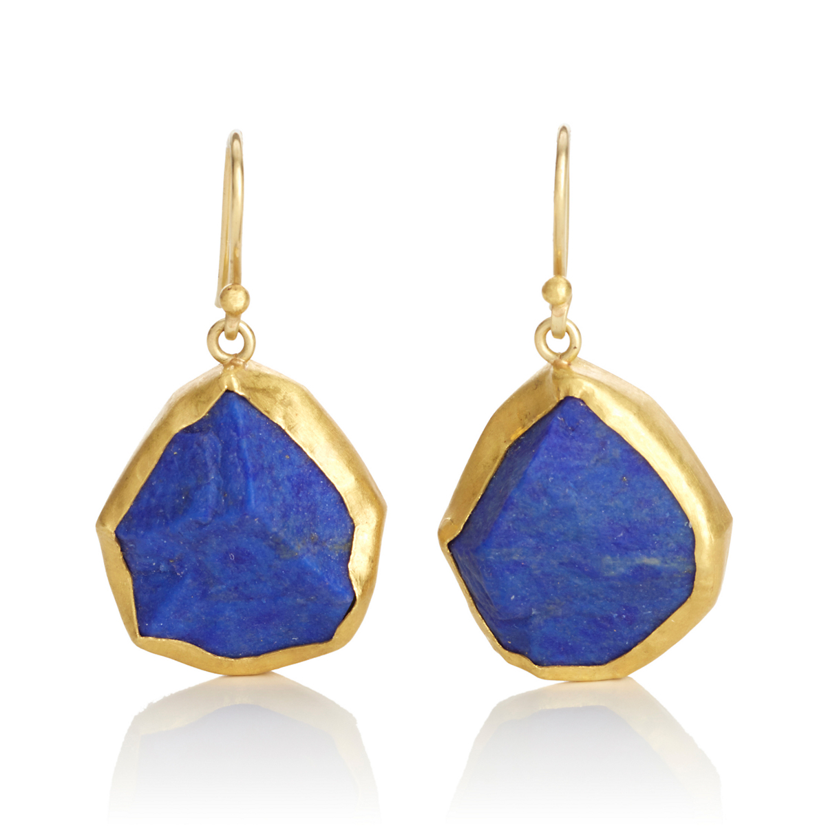Petra Class Rough Lapis Drop Earrings