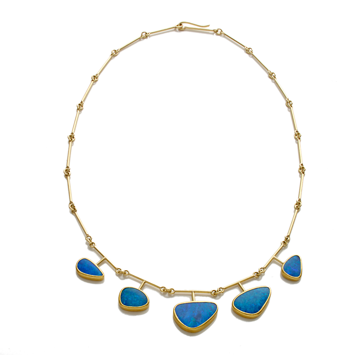 Petra Class Five Opal Doublet Extension Necklace