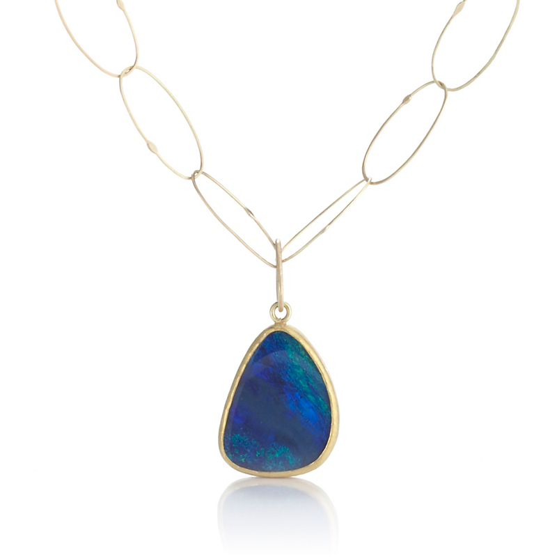 Petra Class Small Opal Doublet Pendant & Chain