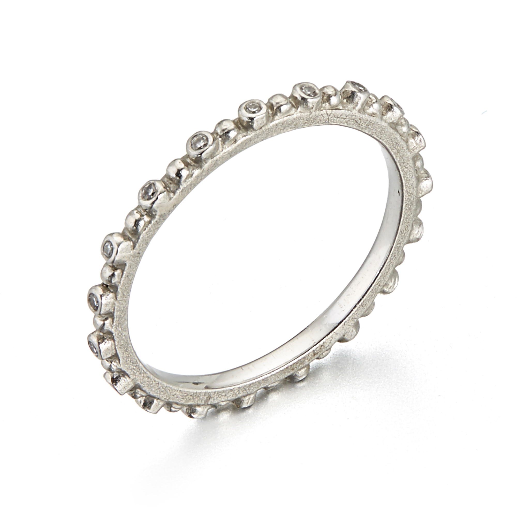 Barbara Heinrich Diamond Platinum Pins & Needles Eternity Band