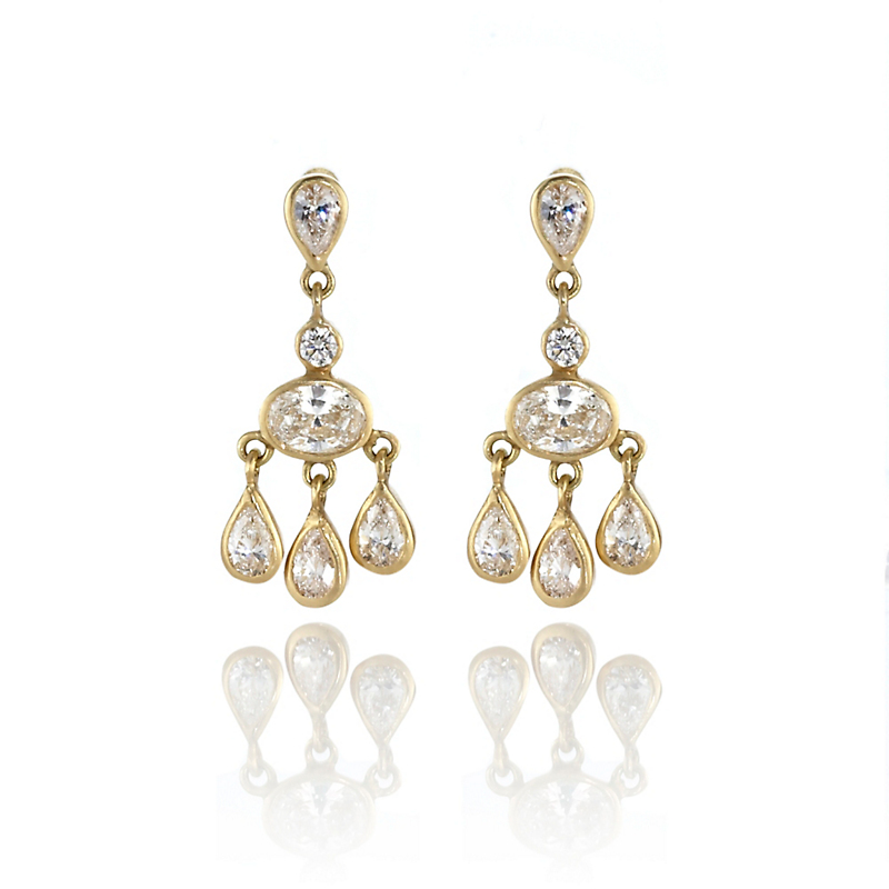 Kothari Mini Diamond Chandelier Earrings