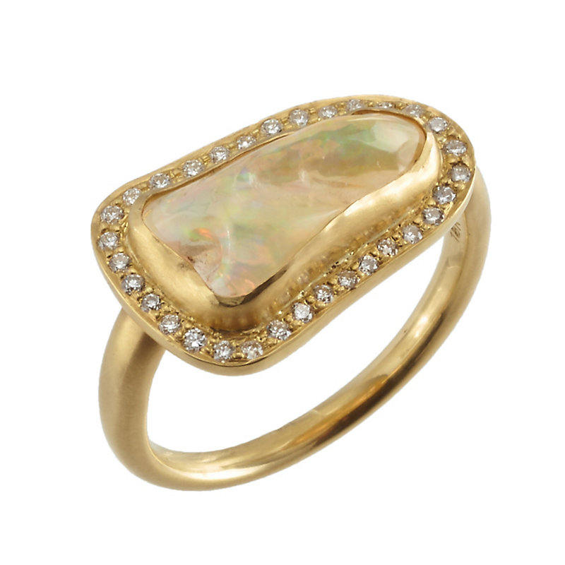 Kothari Ethiopian Opal & Diamond Ring