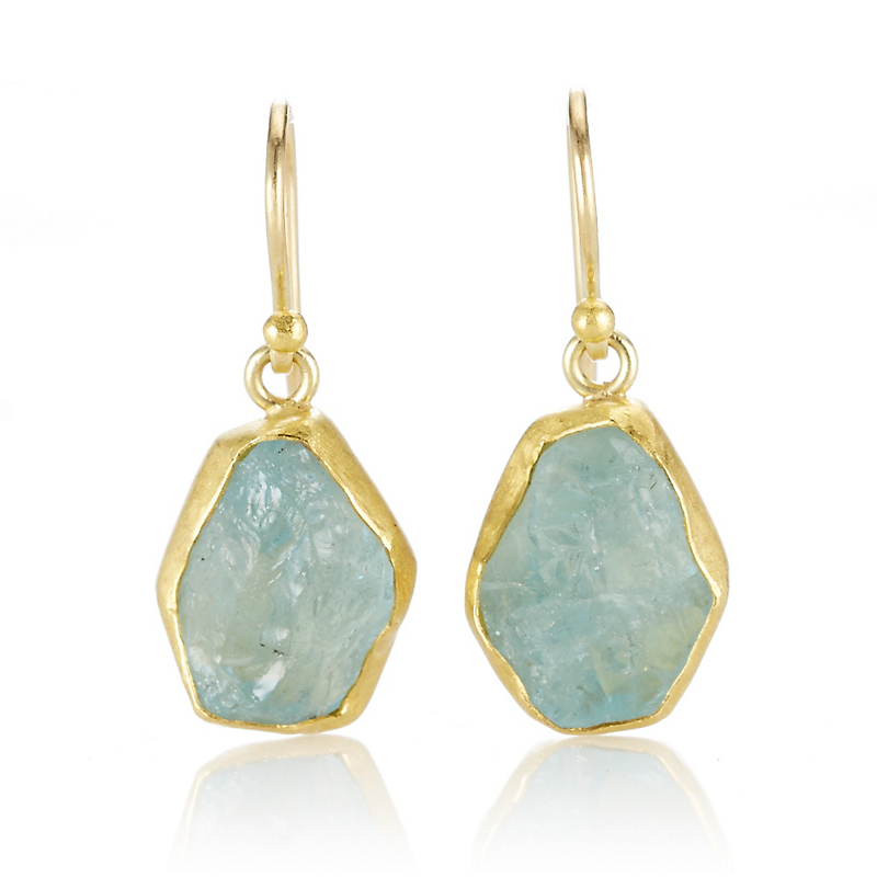 Petra Class Small Aquamarine Crystal Drop Earrings
