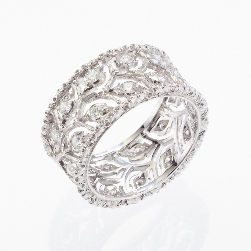 Buccellati Ramage Diamond Band Ring