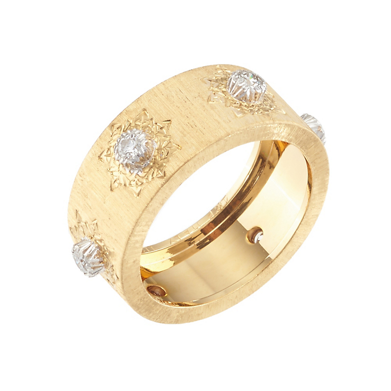 Buccellati Classica Eternelle Gold Diamond Band Ring
