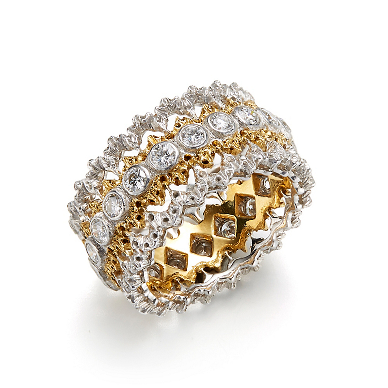 Buccellati Lace Diamond Band Ring