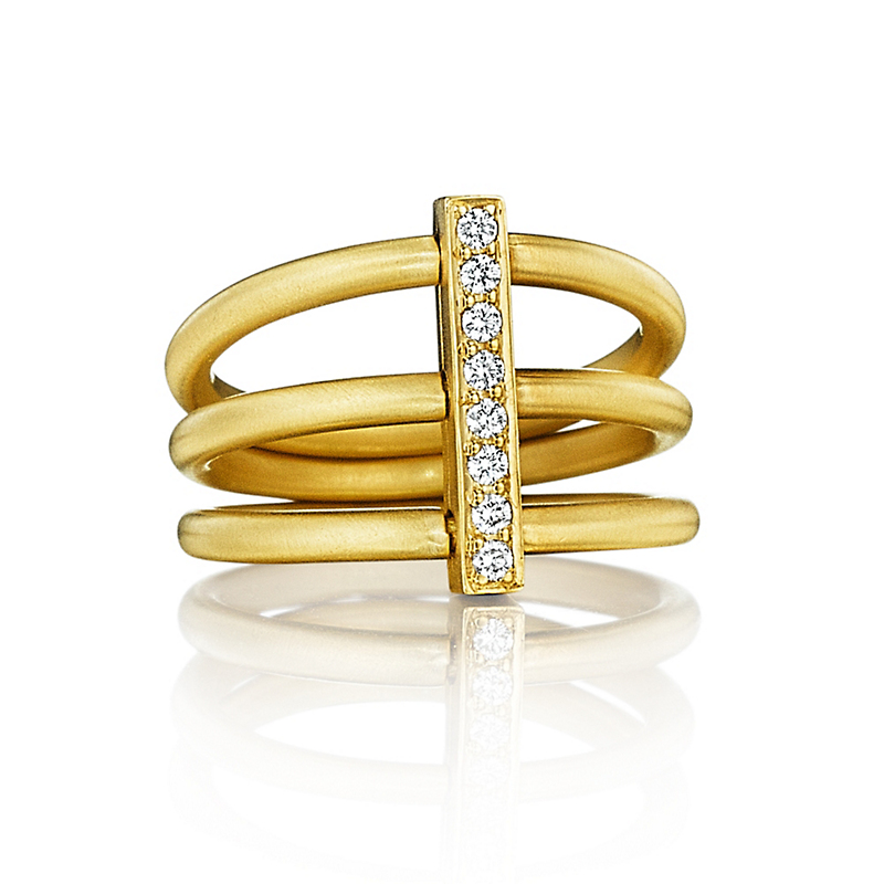 Carelle Diamond Moderne Trio Ring