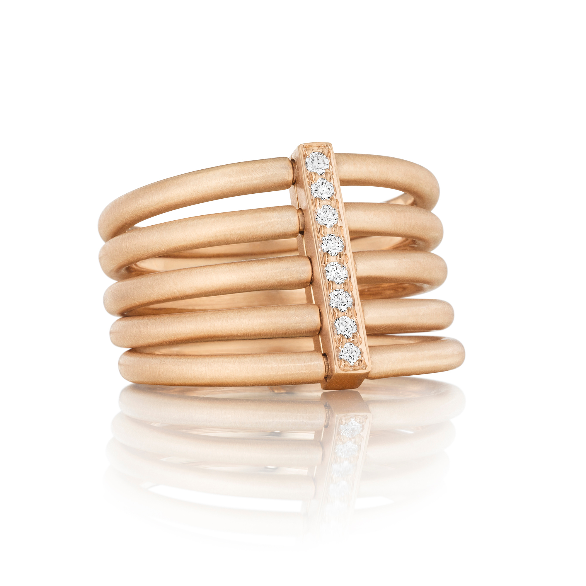 Carelle Diamond Moderne Penta Ring