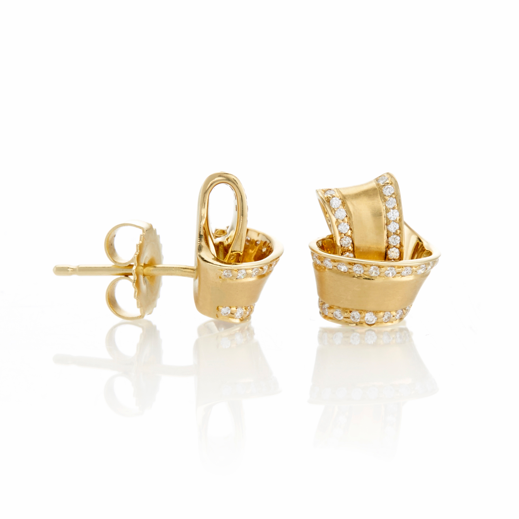 Carelle Pavé Diamond Trimmed Knot Studs