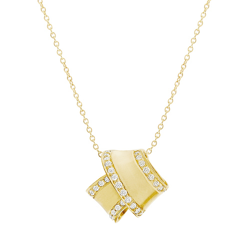 Carelle Pavé Diamond Trimmed Knot Necklace