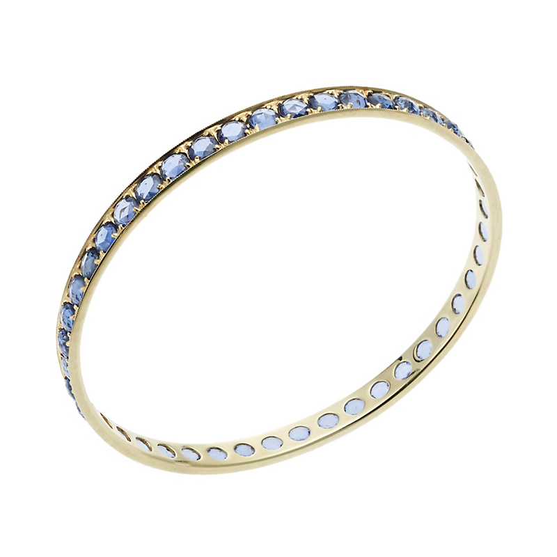 ILA Arlena Rose-Cut Sapphire and Gold Bangle