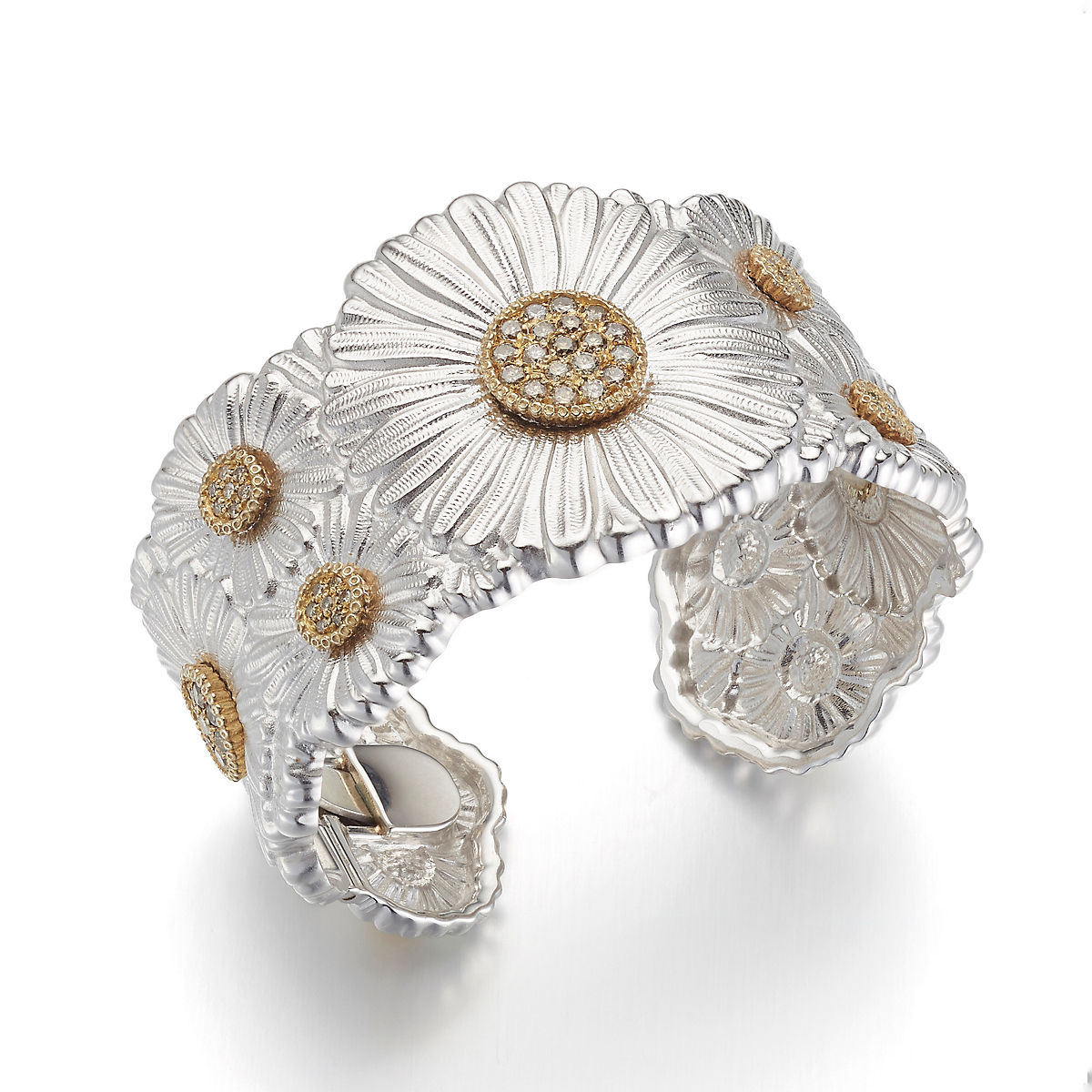 Buccellati Gardenia Cuff with Brown Diamonds