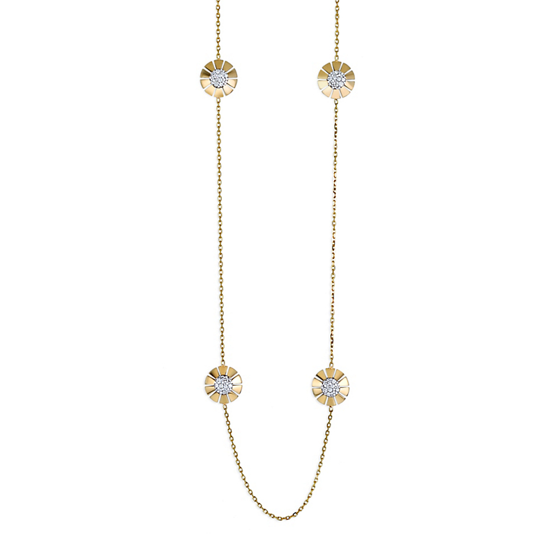 Miseno Vesuvio Pavé Diamond Six Station Necklace