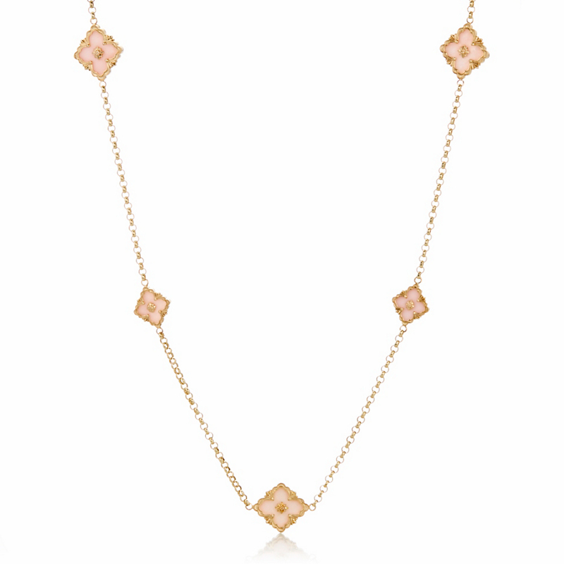 Buccellati Opera Pink Opal Ten Motif Necklace