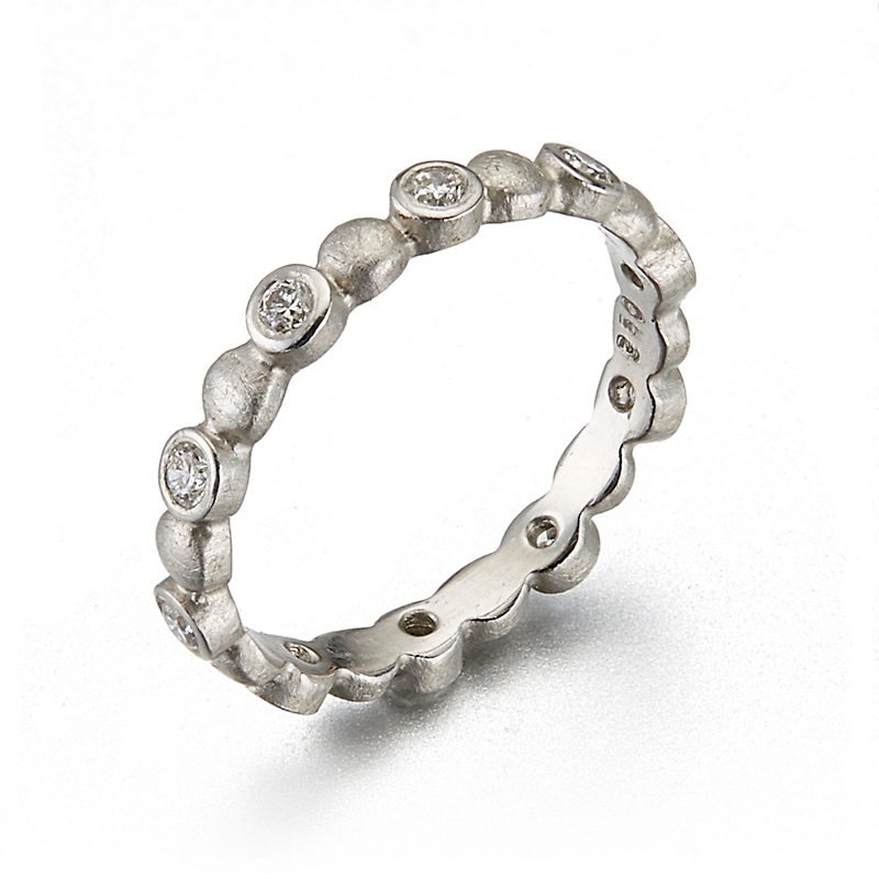 Barbara Heinrich Diamond Platinum Bubble Band Ring