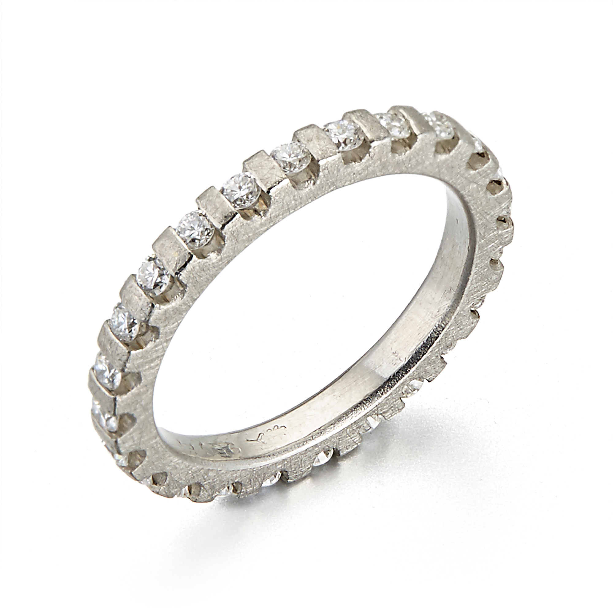 Barbara Heinrich Diamond Platinum Gear Eternity Band Ring