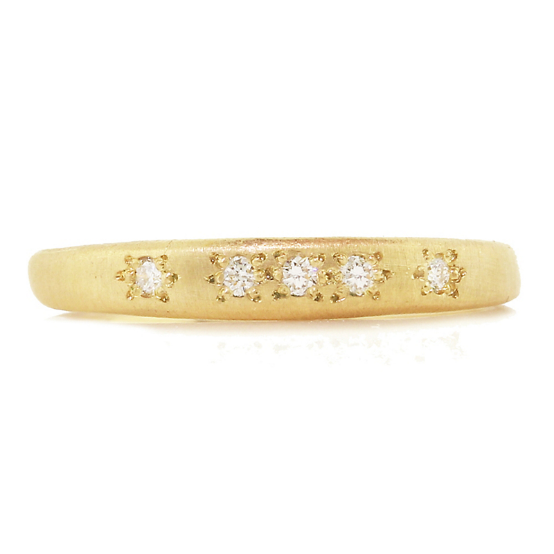 Adel Chefridi Diamond Tapered Thin Band Ring