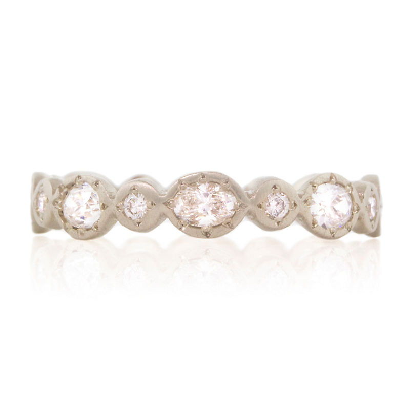 Adel Chefridi Oval & Round Diamond Band Ring