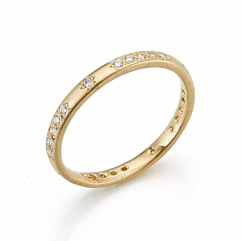 Adel Chefridi Diamond Thin Rounded Band Ring