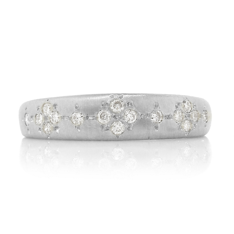 Adel Chefridi Diamond Memories Platinum Tapered Ring