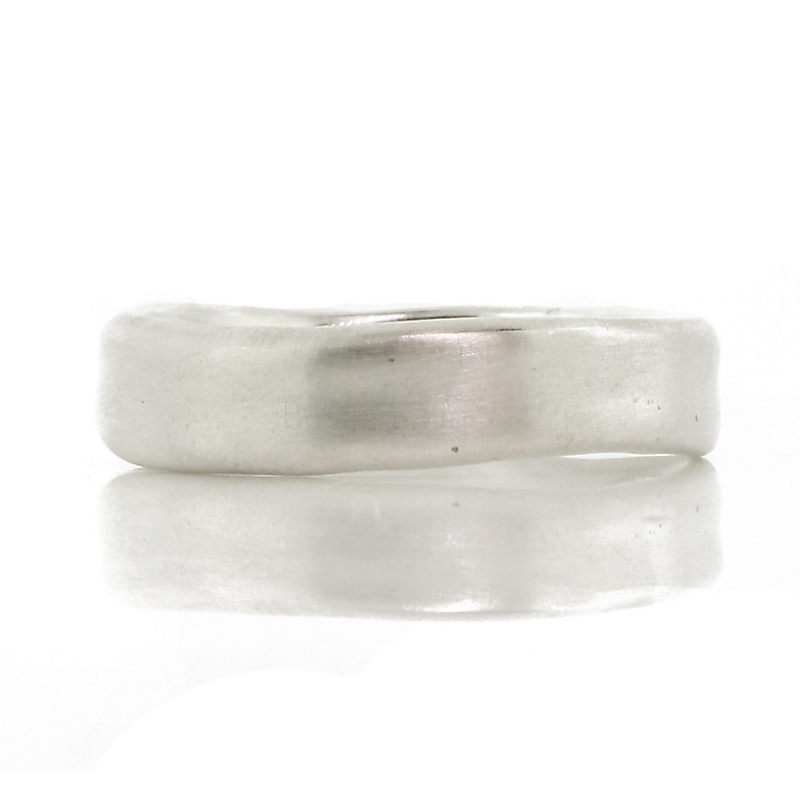 Adel Chefridi Organic White Gold Men's Ring